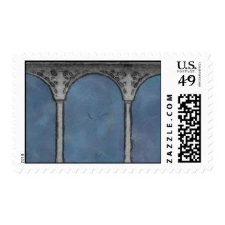 Pillars of Wisdom Postage Stamp