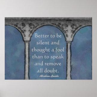 Pillars of Wisdom Poster Print