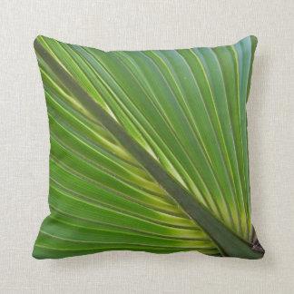 Pilllow de hoja de palma diagonal cojines