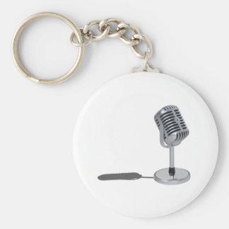 PillMicrophone042211 Basic Round Button Keychain
