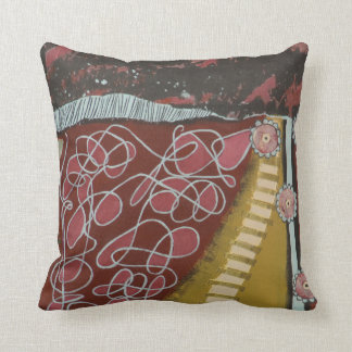 """Pillow, 16"""" X 16"""", Things Get Complicated Painting Throw Pillow"""