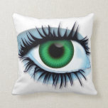 Pillow abstract background with eye