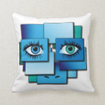 Pillow abstract background with eyes