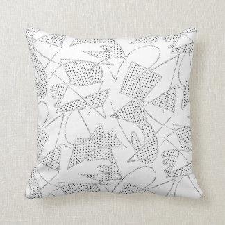 Pillow ATOMIC BOOMERANG 1950s RETRO WHITE 2-Tone