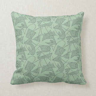Pillow ATOMIC BOOMERANG 50s RETRO SEAFOAM GREEN