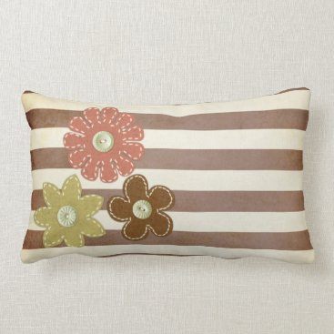 Beach Themed Pillow: Autumn Flowers Lumbar Pillow