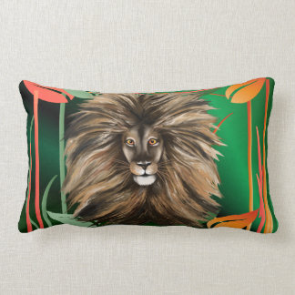 Pillow Big Cat and Colorful Jungle