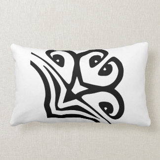 PILLOW BLACK AND WHITE FLORAL