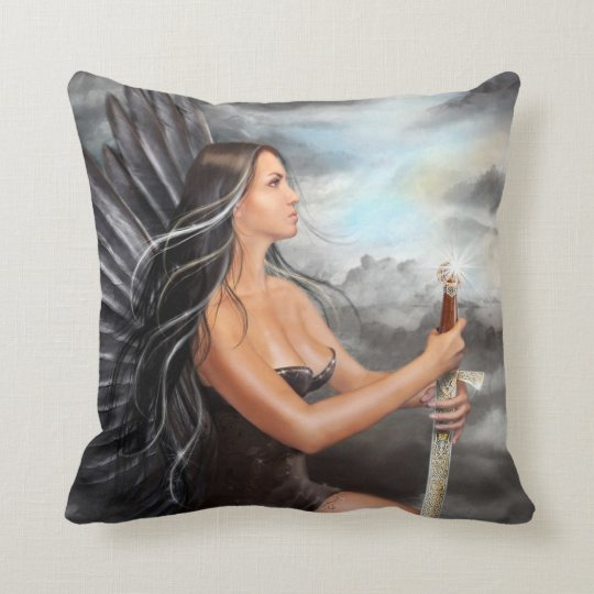 Pillow Black Angel