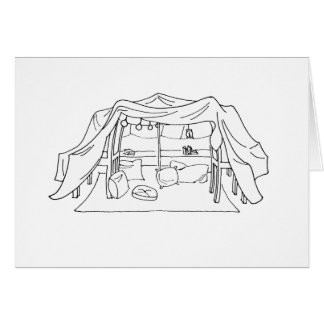 Pillow/Blanket Fort Greeting Card