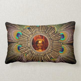 Pillow | Buddha Sun Peacock Feathers