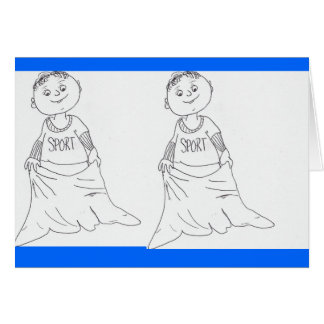 Pillow case sack race card