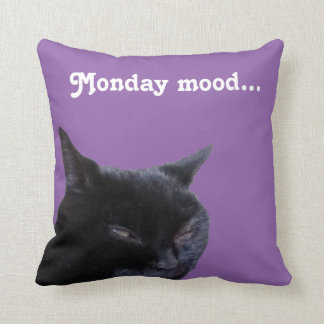 Pillow cat Monday mood by Billy Bernie