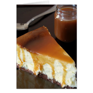 Pillow Cheesecake and Salted Butter Caramel Sauce Cards