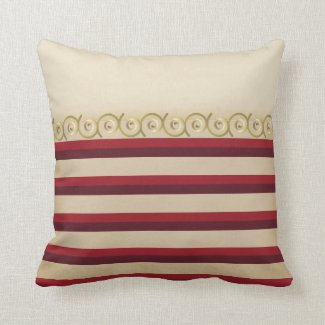Pillow - Classy Vintage Style Striped Pillow