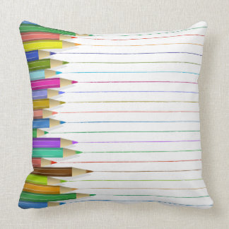 Pillow - Colored Pencil Lines