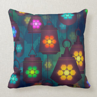 Pillow Colorful Hanging Lanterns Beautiful Lights