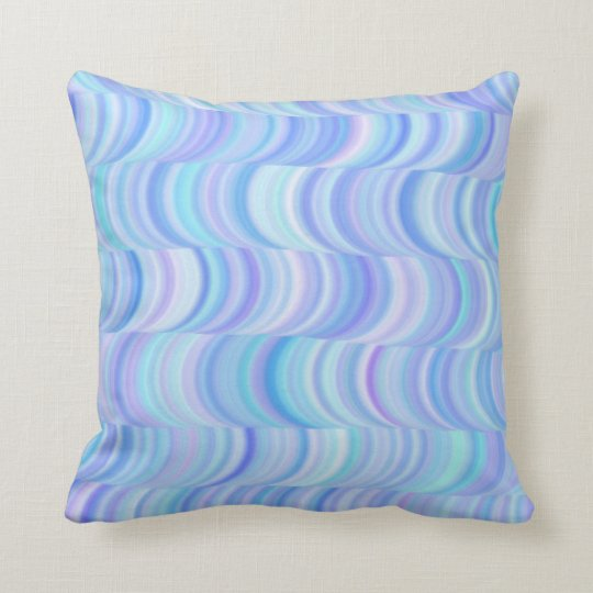 Pillow - Cool Blues Curves