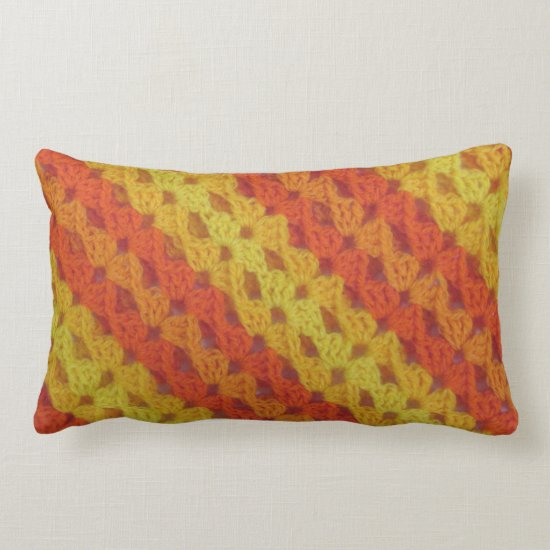 Pillow - Crochet pattern - orange shells(diagonal)