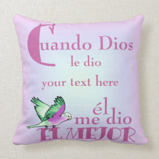 Pillow-Cuando Dios Your Text Here© Pillow
