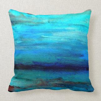 Pillow Decor Turquoise Ocean Sea Waves Seashore