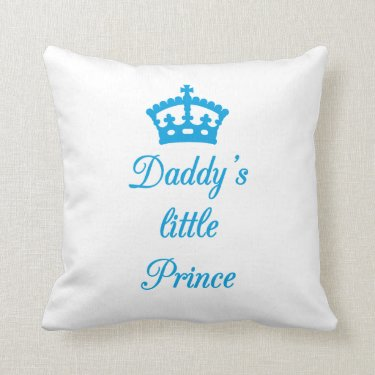 Pillow design Daddy's little prince with crown