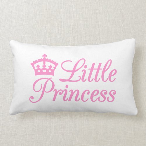 Pillow design little princess, with pink crown