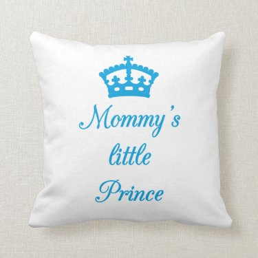 Pillow design, Mommy's little prince with crown