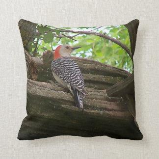Pillow featuring backyard birds