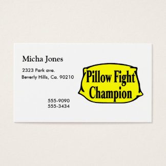 Pillow Fight Champion Business Card