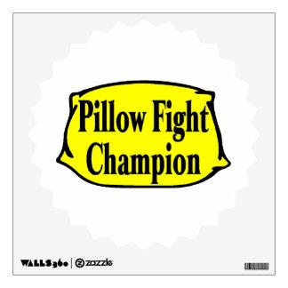 Pillow Fight Champion Room Graphics