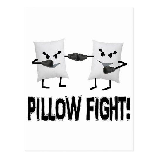 Pillow Fight Postcard