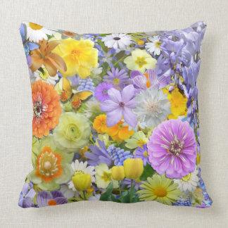 Pillow - Flowers and Butterflies