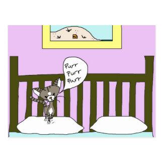 * Pillow Fluffer * With Bootsie The Cat Postcard