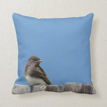pillow - flycatcher on fence