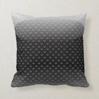 Pillow glossy metal grid