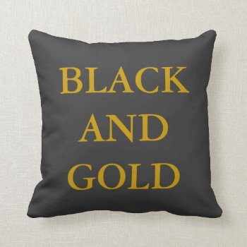 Pillow Go Black And Gold by CREATIVEforKIDS at Zazzle