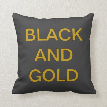 Pillow Go Steelers Black And Gold by CREATIVEforKIDS at Zazzle