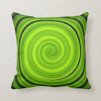 Pillow green and black spiral