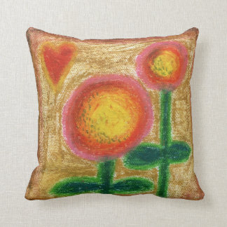 Pillow, Happy Sunflowers Throw Pillow
