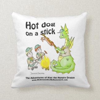 Pillow - Hot Dog on a Stick - Kiwi the Dragon