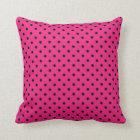 Pillow Hot Pink and Black Polka Dot