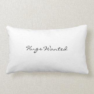 Pillow: Hugs wanted/ always kiss me goodnight Lumbar Pillow