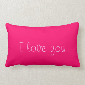 "Pillow-""I love you"" Lumbar Pillow"