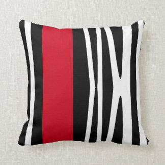Red Black White Decorative Pillows : Red And Black Pillows - Decorative & Throw Pillows Zazzle