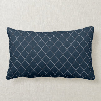 Pillow in Navy Chain Link Pattern