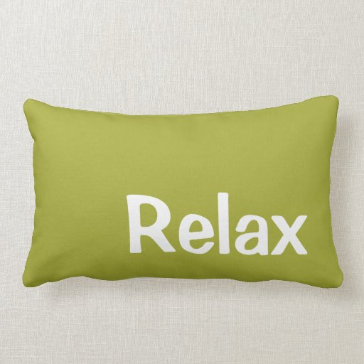 Pillow in Pear Green for Relaxing Throw Pillows