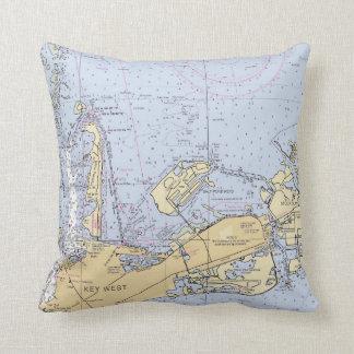 Pillow- Key West, Florida Nautical Chart Throw Pillow