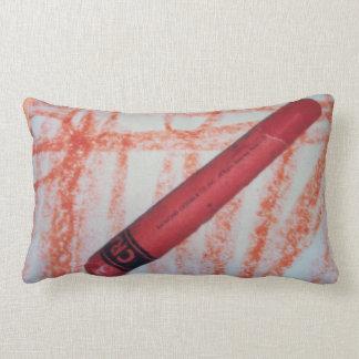 Pillow(kids orange crayon) lumbar pillow