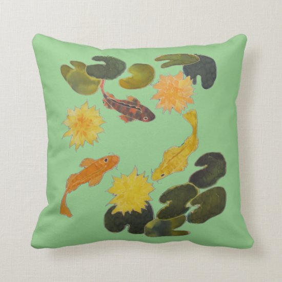 Pillow - Koi and Lilly Pads